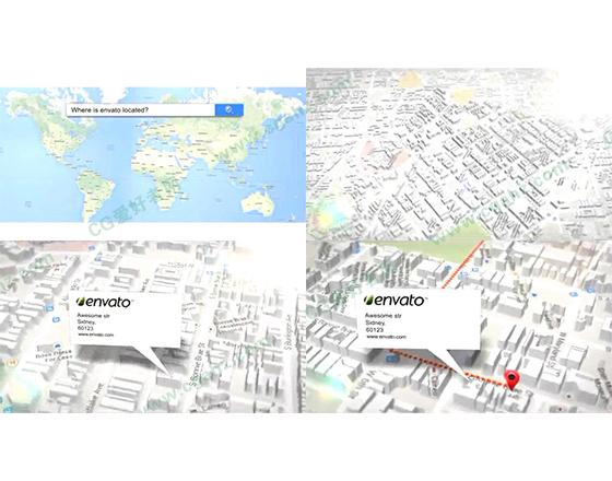 强大的三维地图创建器AE源文件