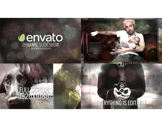 时尚欢乐的影像内容展示AE模板
