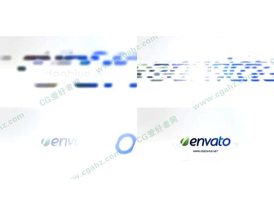 时尚简约的企业标志揭示片头AE工程