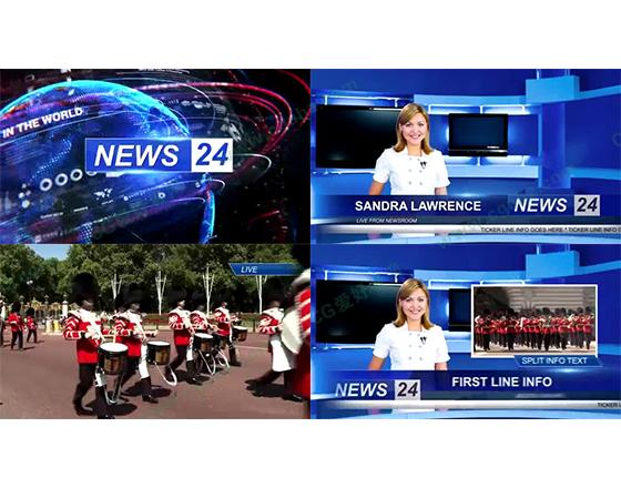 体育,新闻,天气的栏目包装设计AE模板