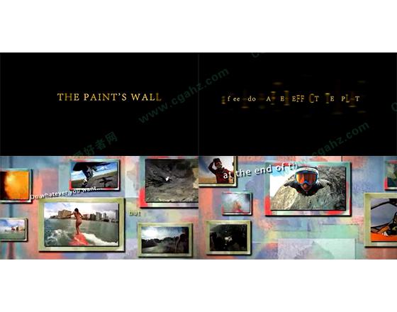 视频组合展示墙AE模板
