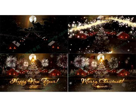 温馨浪漫的圣诞新年之夜AE模板