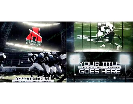 大屏幕样式的体育节目包装片头AE模板