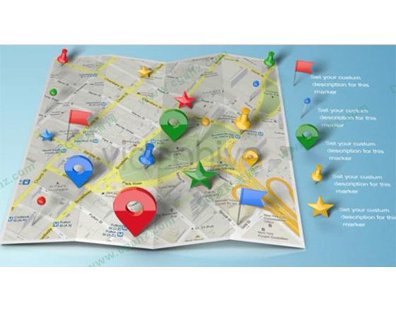 折纸地图与三维定位标记AE模板
