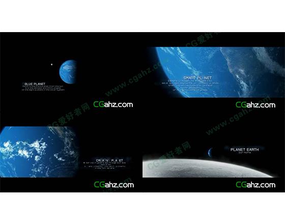 震撼大气的地球主题电影字幕宣传片AE模板