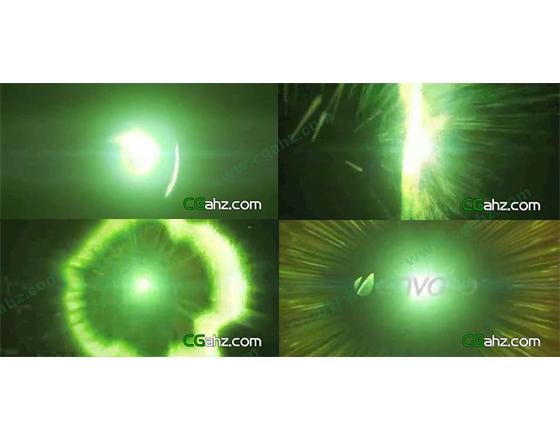 震撼的粒子光环logo揭示片头AE工程