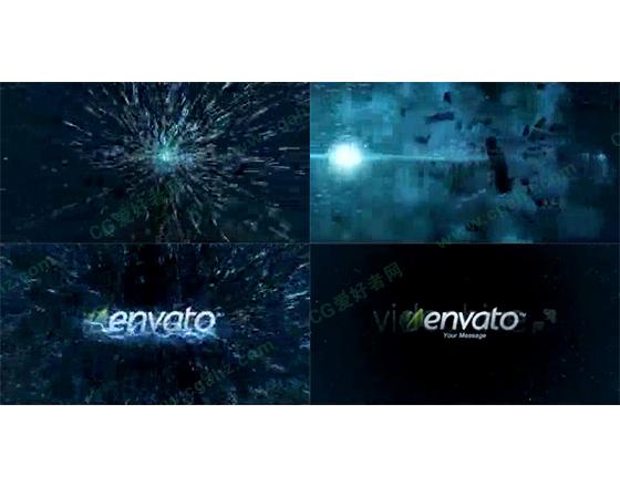 震撼的能量爆发logo片头AE工程
