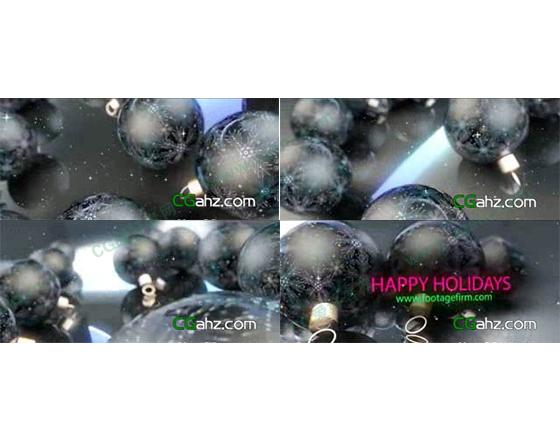 用圣诞节挂饰做的节日片头AE模板