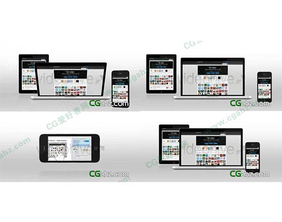 用苹果设备来宣传个人网站的AE模板