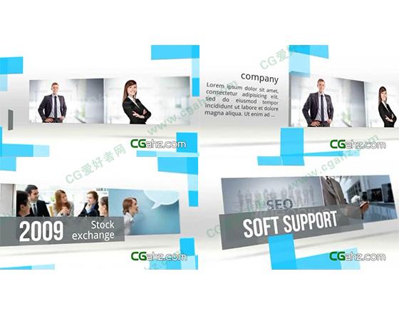优雅简约的企业宣传片AE模板