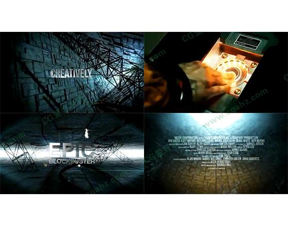 好莱坞大片般的震撼电影宣传片AE模板