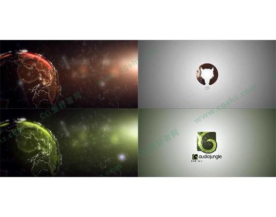 梦幻星际太空logo展示片头AE模板