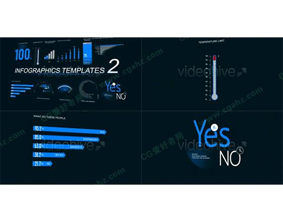 数据信息图表化AE模板