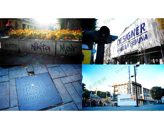 轻松惬意的城镇生活介绍AE模板