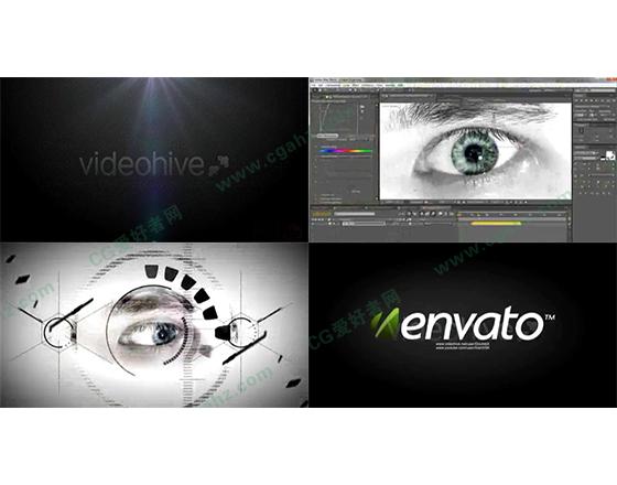数字科技之眼片头开场动画AE模板