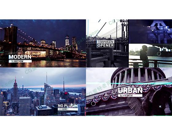 快节奏城市生活片头动画AE模板