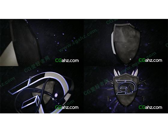 盾牌武器组合动画AE模板