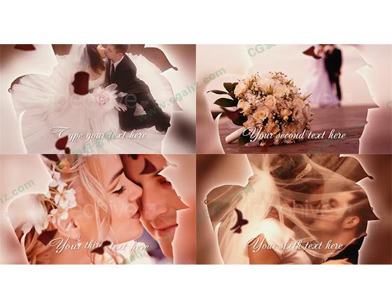 玫瑰婚礼婚庆AE模板