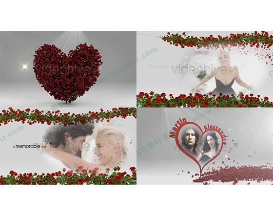 美丽爱情婚礼预告片AE模板