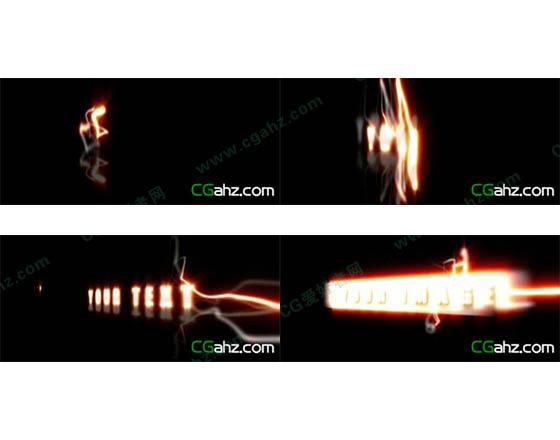 光效出字特效制作AE模板