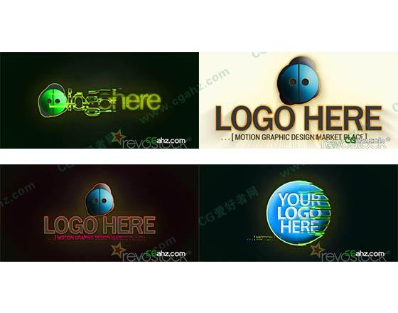 光线轮廓logo片头特效AE工程