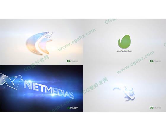 简洁干净公司企业三维Logo展示AE模板