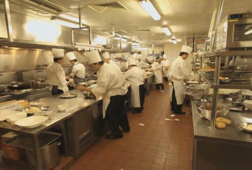 厨师做菜实拍片段