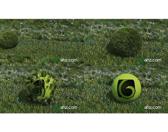 滚动草球抖落草叶后标志出现的AE模板