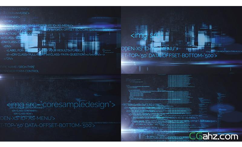 网络数据传输科技变换片揭示AE模版