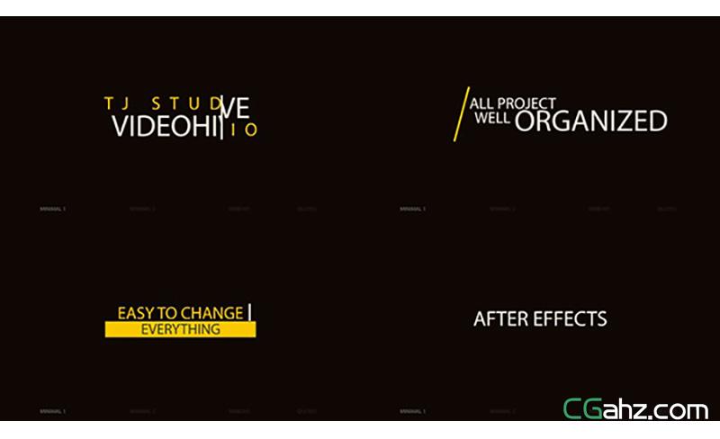 100款创意动态字幕标题AE模板