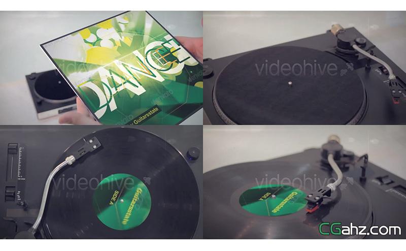 唱片cd音乐推销广告宣传视频AE模板