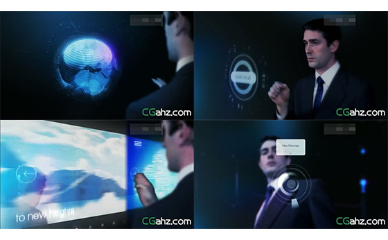 智能商务打造企业宣传光效科幻演示AE模版