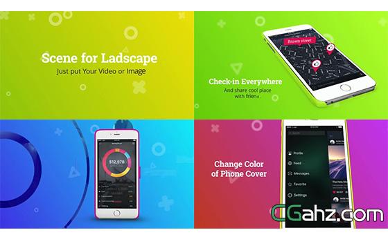 手机应用推广多变化切换宣传片AE模板
