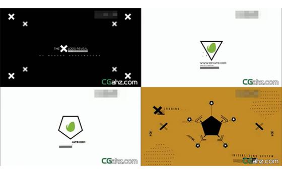 创意闪烁涂鸦旋转演绎LOGO标志AE模板