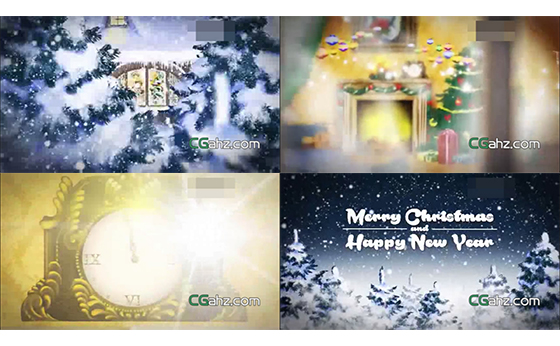 圣诞节问候祝福开场片头AE模板