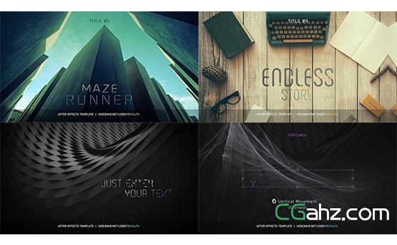 变化字体商务风标题动画展现AE模板