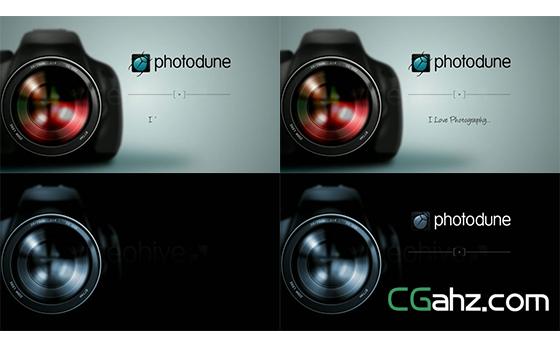 摄影单反相机镜头转动变焦模糊揭示AE模板