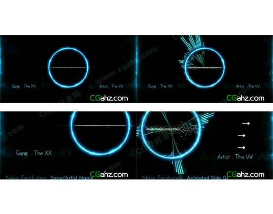 用AE制作随音而动的音频曲线动画AE模板