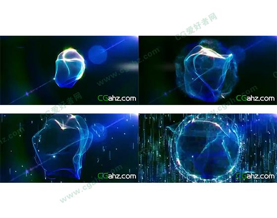 用AE制作随音而动的音频光波动画AE模板