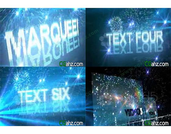 灯光和粒子映射下的动感舞台展示AE模板