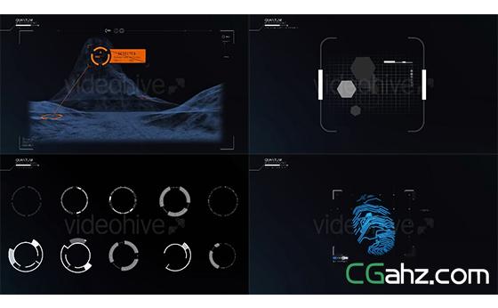 虚拟展视分析特效专业HUD元素包AE模板