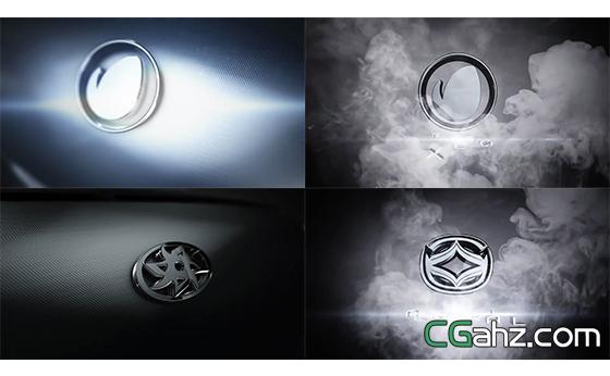 烟雾镜头切换演绎汽车LOGO标志AE模板