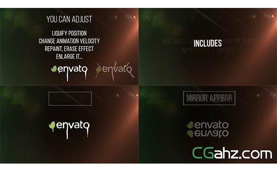 动画创意企业LOGO标志液化动态展示AE模板