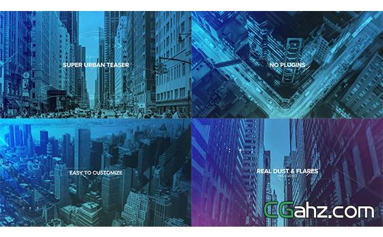 电子故障毛刺跳动切换城市场景揭示AE模板