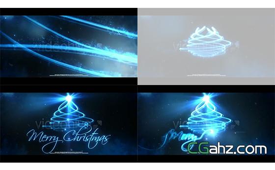 火花光束运动滑出光学标题演绎欢乐节日AE模板