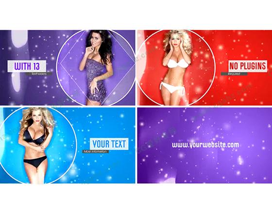 性感縮放圓圈幾何透明遮罩廣告片頭