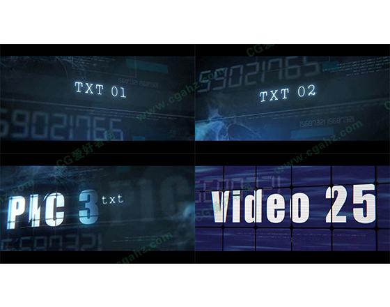 动作电影预告片动画AE模板