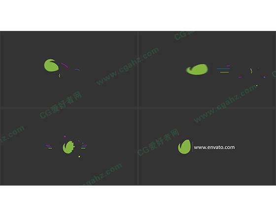 简单扁平动画片头LOGO演绎AE模板