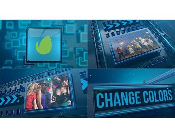 舞台告示牌体育时尚节目预告宣传片AE模板