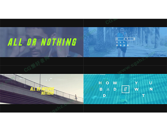 动感多彩激情体育宣传片片头AE模板